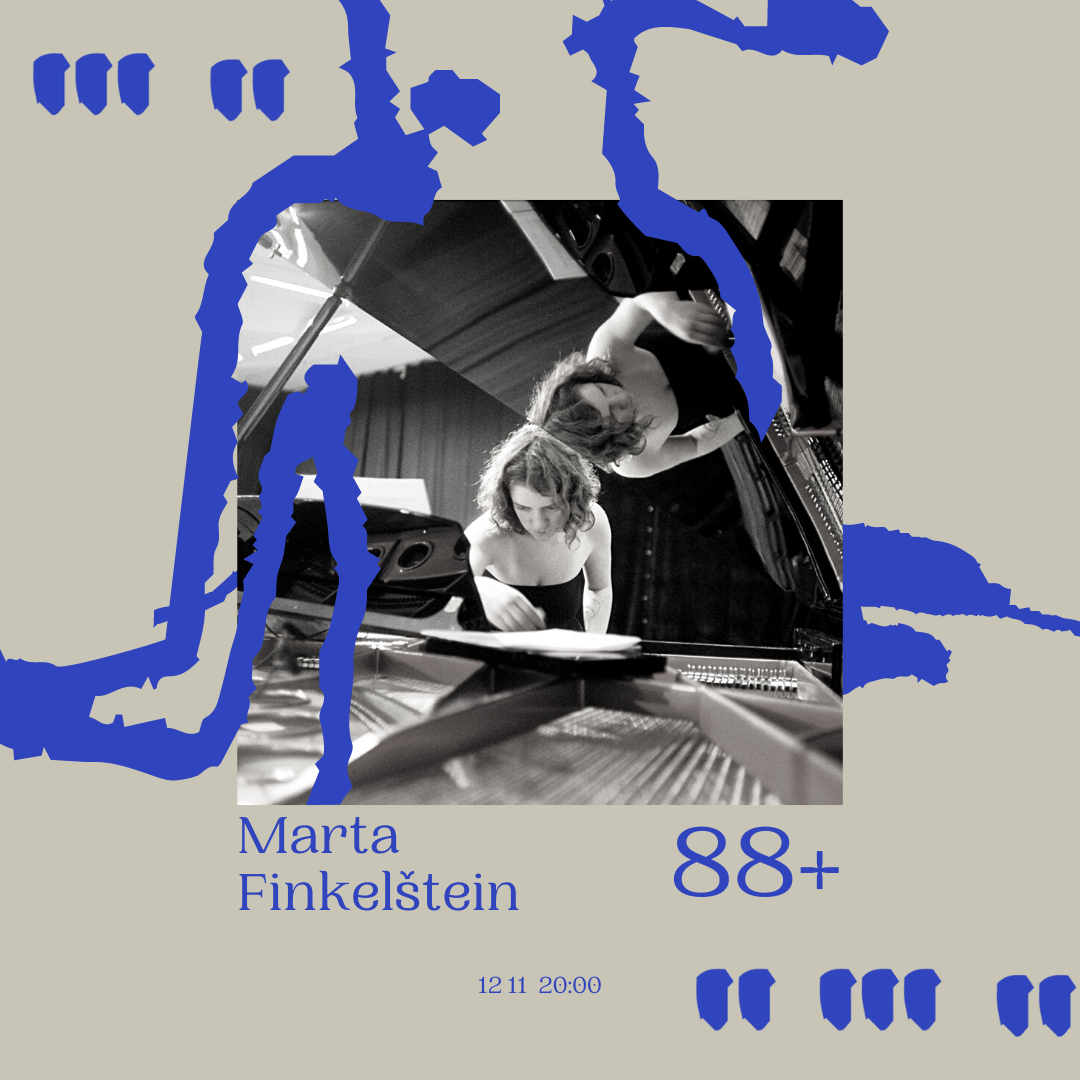 the poster for Marta Finkelštein's concert